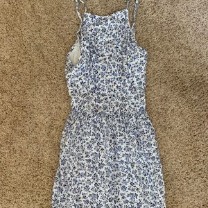 Hollister Blue & White Flower Dress, Size M